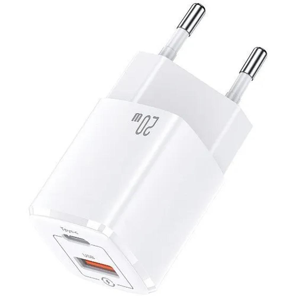 Фото - Сетевое зарядное устройство Usams CC128 Power Delivery QC 3.0 20Вт USB A + Type-C белое сетевое зарядное устройство anker powerport atom iii usb usb c белое