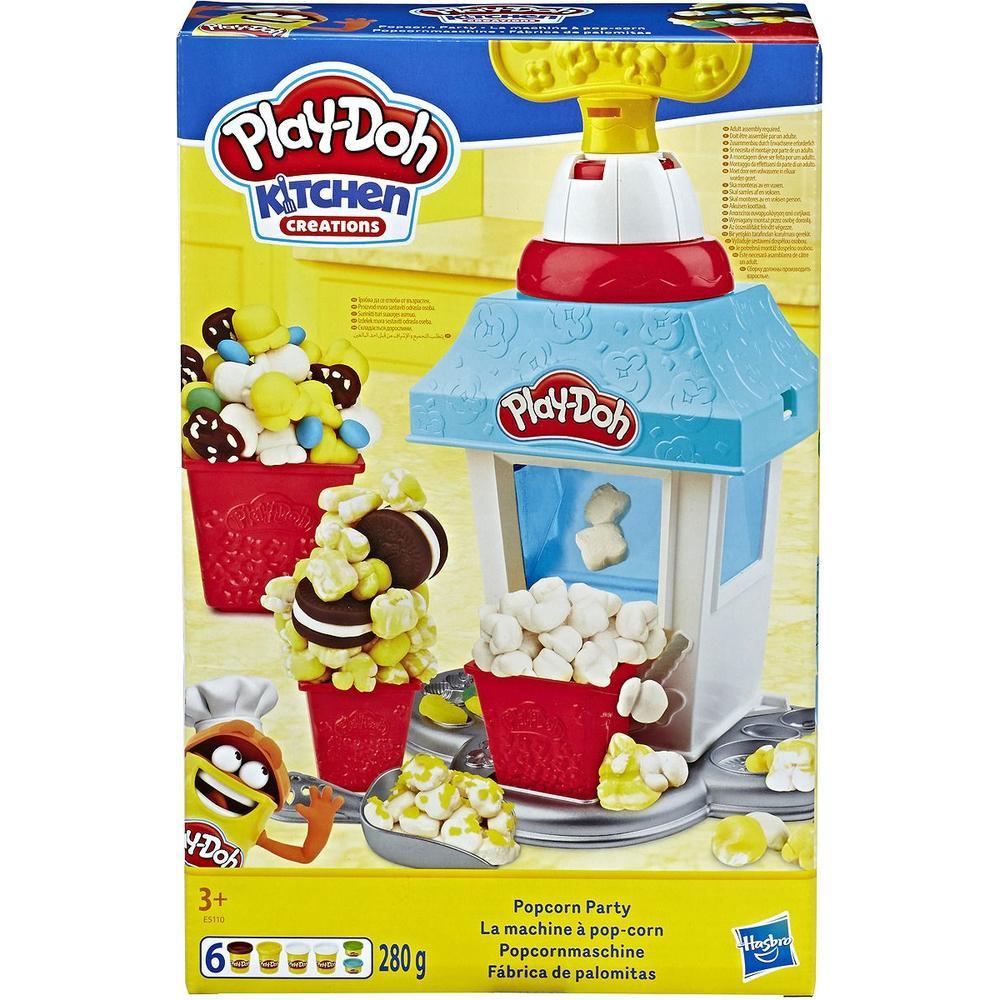Фото - Игровой набор с пластилином Hasbro Play-Doh Попкорн-Вечеринка E5110 игровой набор специальной массы hasbro play doh wheels e4508