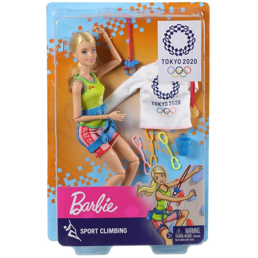 Фото - Кукла Mattel Barbie Олимпийская спортсменка с аксессуарами GJL73/GJL75 Спортивное скалолазание кукла mattel barbie скиппер няня в клетчатой юбке с малышом и аксессуарами grp11