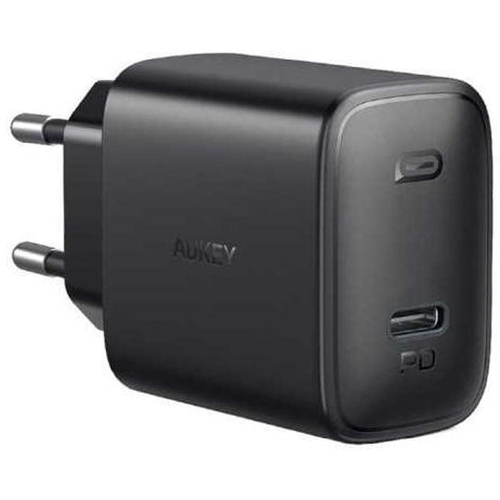 Фото - Сетевое зарядное устройство Aukey Swift PD PA-F1S 20W USB-C, черное сетевое зарядное устройство anker powerport atom iii usb usb c белое