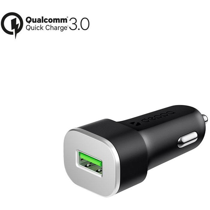 Фото - Автомобильное зарядное устройство Deppa, USB, 3A (QC 3.0) Черное (11286) автомобильное зарядное устройство deppa 2xusb a usb type c qc 3 0 черное 11296