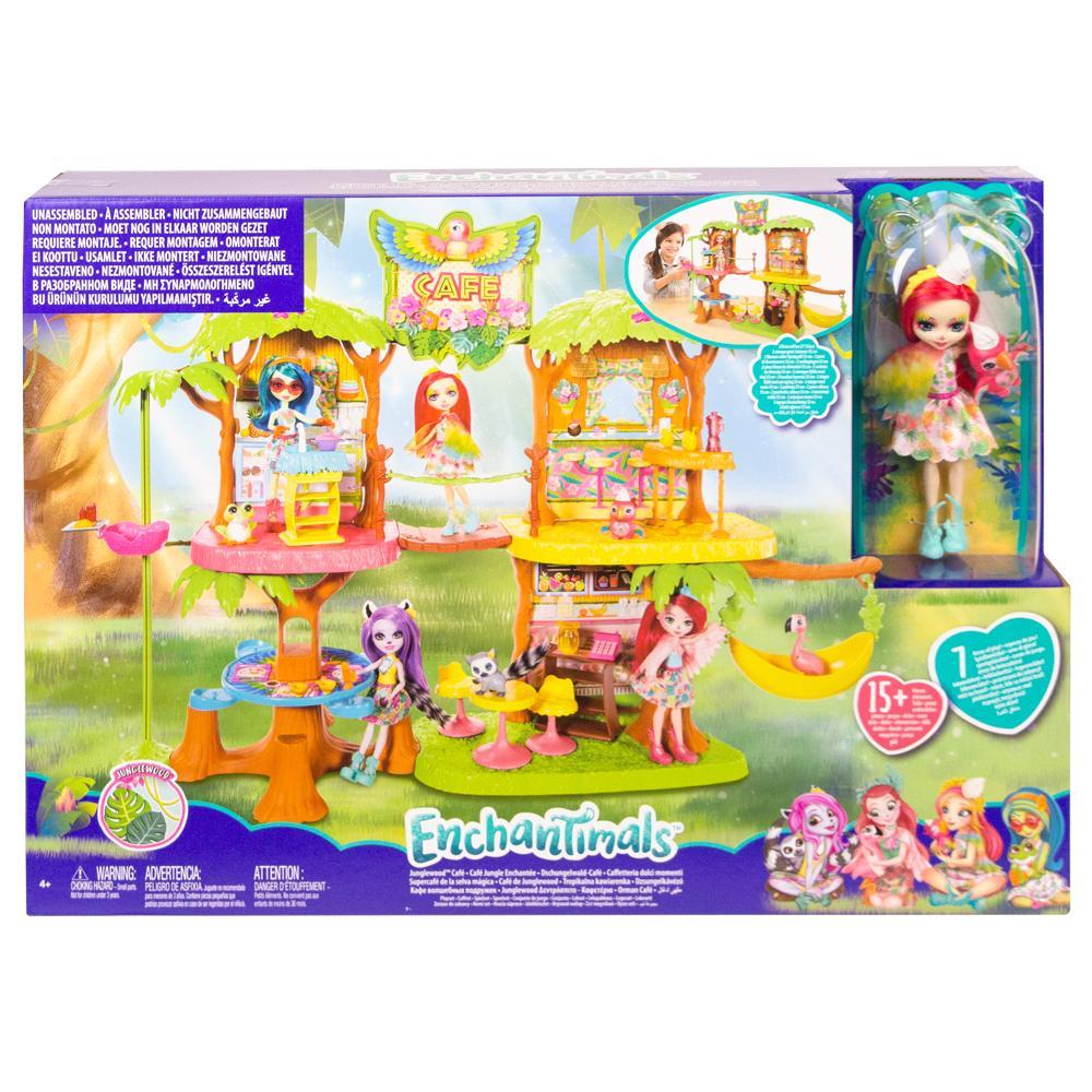 Enchantimals Mattel Джунгли-кафе GNC57