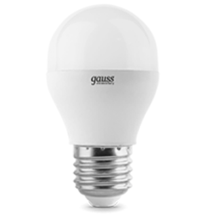 Светодиодная лампа Gauss Elementary LED Globe E27 6W 3000K 53216