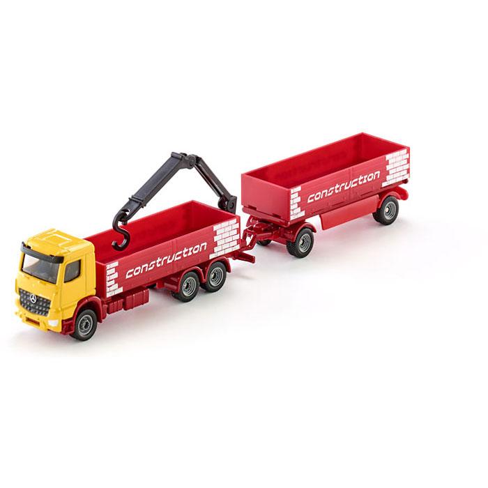 трактор siku с прицепом кузовом 1858 1 87 22 6 см желтый Siku модель грузовика с двойным прицепом с открытой крышей (1-87) 1797