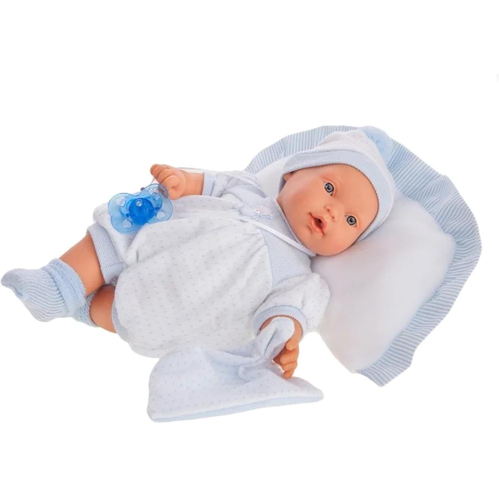 Кукла Munecas Antonio Juan Химено в голубом, плачет, 27 см 1113B недорого