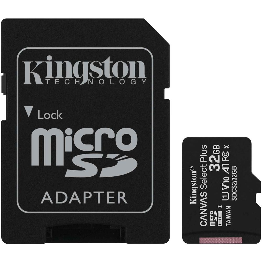 Фото - Карта памяти Micro SecureDigital 32Gb Kingston Canvas Select Plus SDHC class 10 UHS-I (SDCS2/32GB) + SD адаптер карта памяти kingston micro sdhc 32gb canvas select plus uhs i u1 a1 adp 100 10 mb s