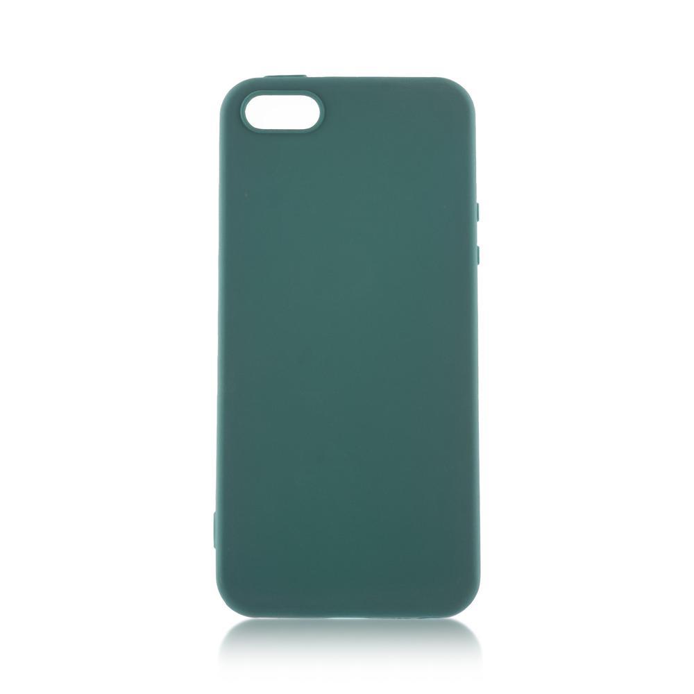 Чехол для Apple iPhone 5\5S\SE Brosco Colourful темно-зеленый чехол для iphone 5 iphone 5s iphone se brosco soft rubber накладка черный