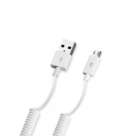 Фото - Кабель USB-MicroUSB 1.5m витой белый Deppa (72122) кабель aux deppa 3 5мм 3 5мм витой 2м черный 72182