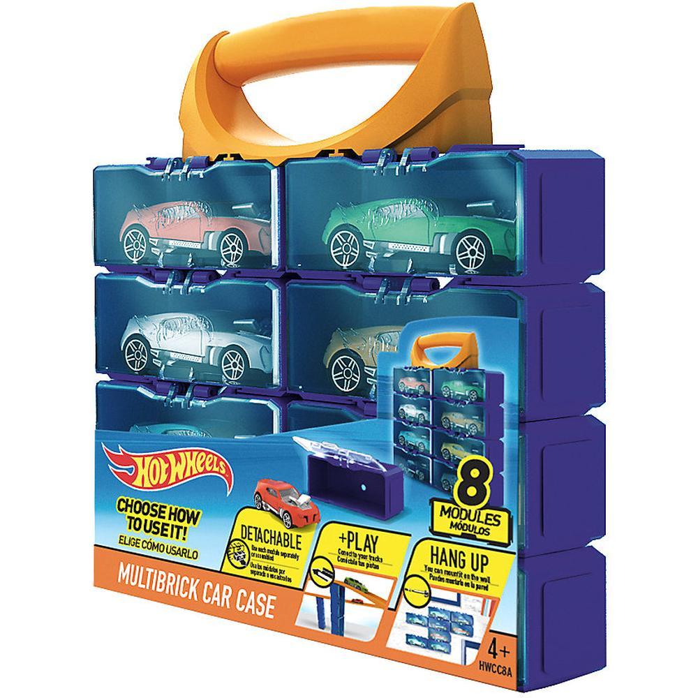 Кейс Mattel Hot Wheels Портативный кейс конструктор (8 мини боксов) для машинок HWCC8A