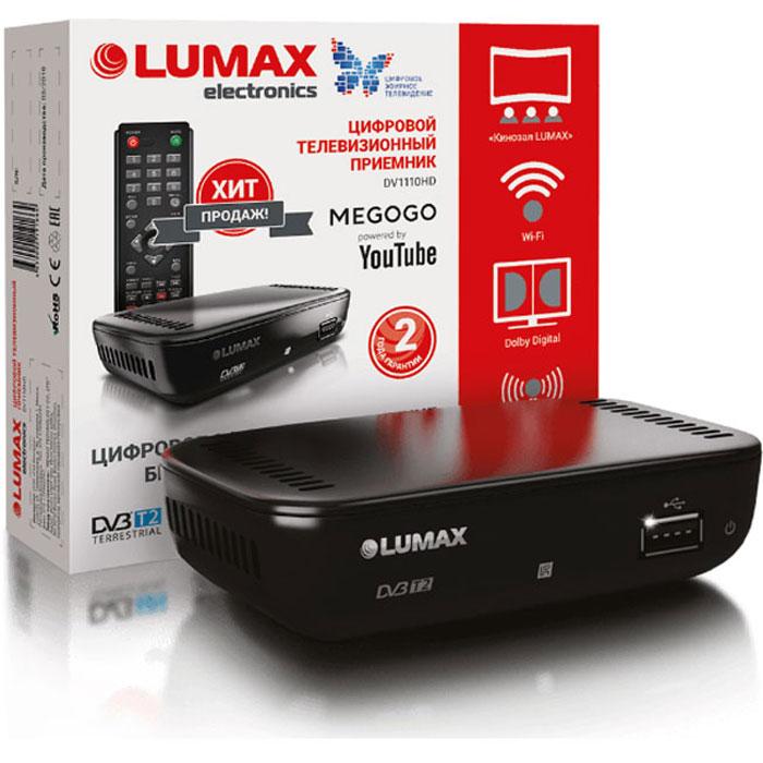 Фото - Ресивер Lumax DV-1110HD черный DVB-T2 приставка dvb t2 lumax gx2325s пластик 3 5 jack usb hdmi wi fi dolby digital megogo iptv плейлисты кинозал lumax youtube 0 3кг внешний блок питания