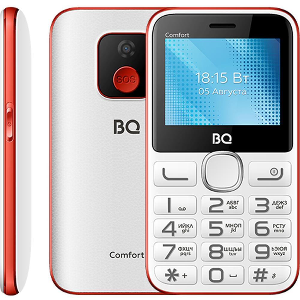 Мобильный телефон BQ Mobile BQ-2301 Comfort White/Red сотовый телефон bq 2301 comfort red black
