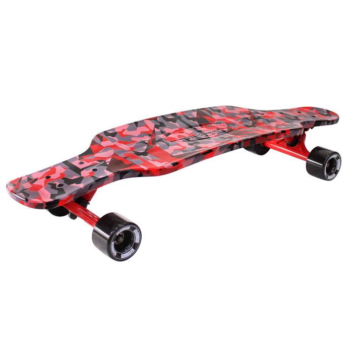 Скейтборд Y-SCOO Longboard Shark Tir 31 с сумкой Chaos Red/black