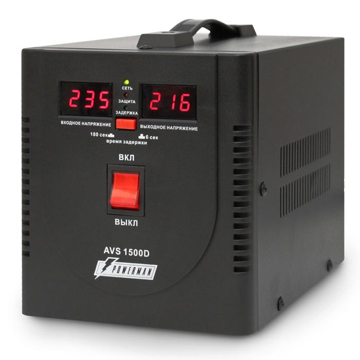 Фото - Стабилизатор Powerman AVS 1500D Черный стабилизатор powerman avs 500p