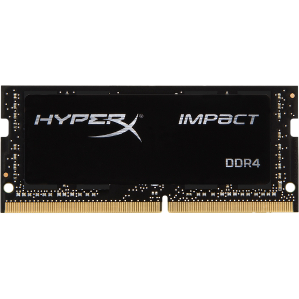 Фото - Модуль памяти SO-DIMM DDR4 16Gb PC21300 2666Mhz Kingston HyperX Impact (HX426S16IB2/16) модуль памяти so dimm ddr4 4gb pc21300 2666mhz crucial ct4g4sfs8266