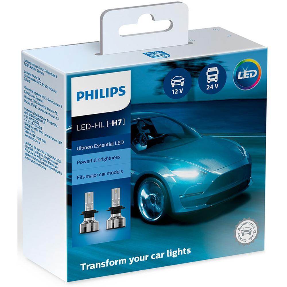 Фото - Автомобильная лампа Philips Ultinon Essential H7 LED 6500K 11972UE2X2 2 шт. лампа автомобильная светодиодная philips ultinon led 11972ulwx2 led hl [h7] 14w 2 шт