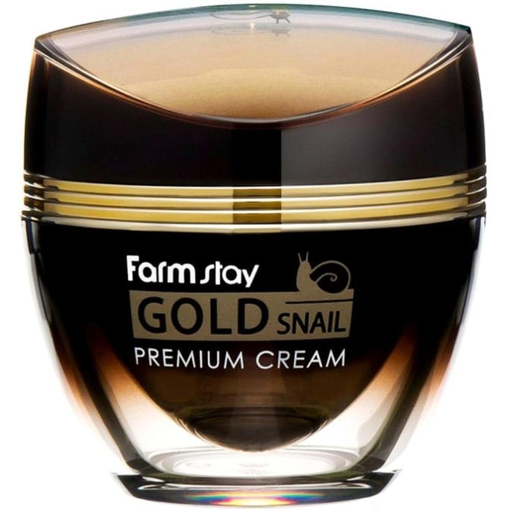FarmStay Премиальный крем с золотом и муцином улитки Gold Snail Premium Cream, 50 мл. farmstay маска пленка 24k gold snail peel off pack с золотом и муцином улитки 100г