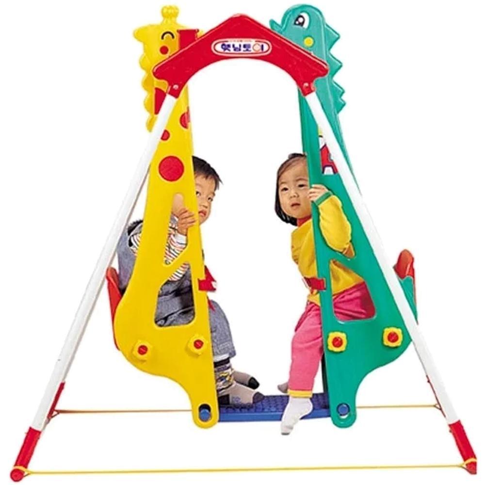 КачелиHaenim Toy Жираф-ДракондлядвоихдетейDS-710