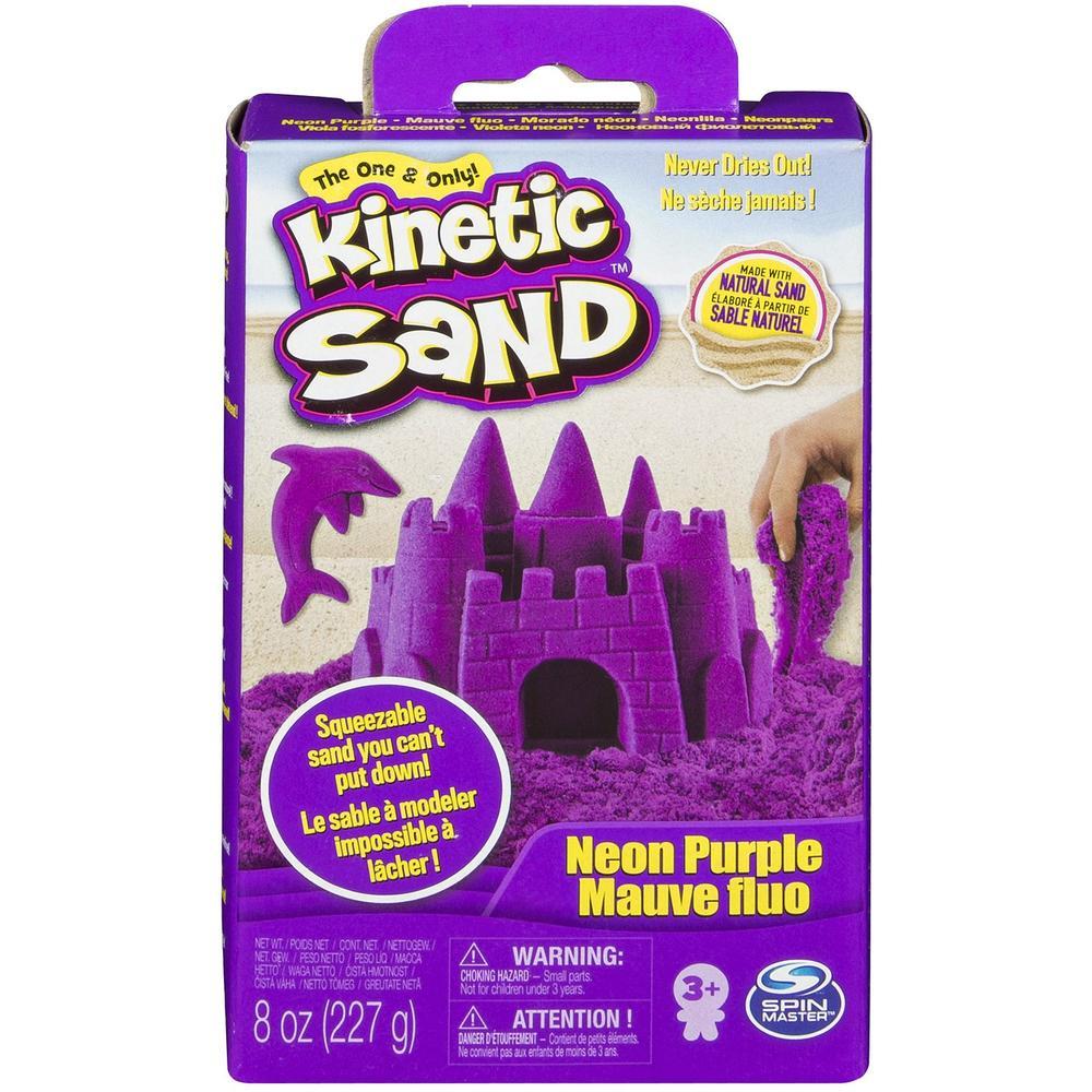 Kinetic Sand Кинетический песок набор для лепки 240 г (фиолетовый)