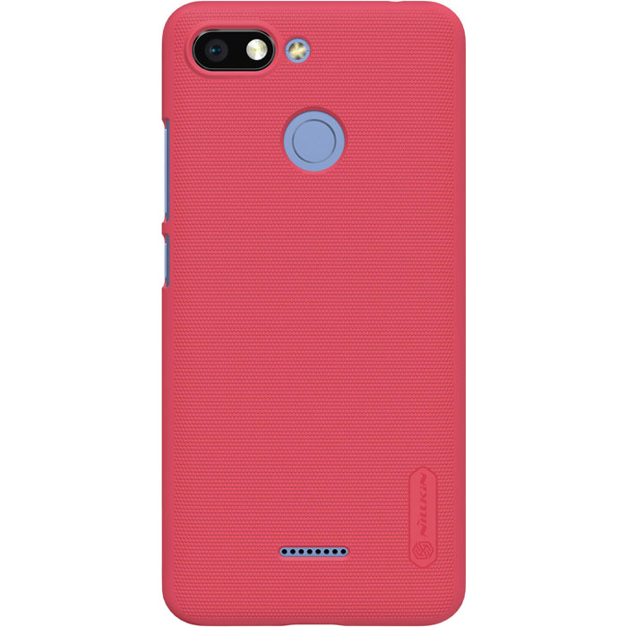 Чехол для Xiaomi Redmi 6 Nillkin Super Frosted Shield Case, красный бампер nillkin super frosted shield для redmi note 8 pro синий