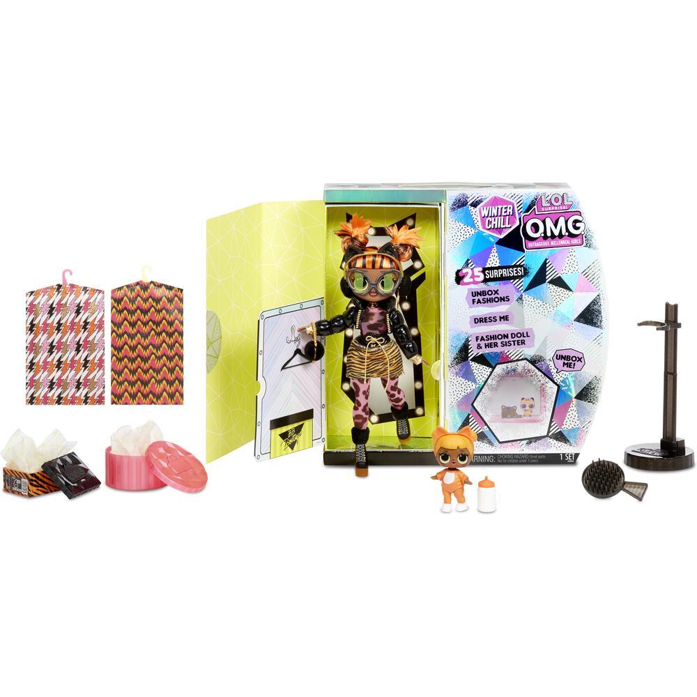 Кукла - сюрприз L.O.L. MGA Original OMG Winter Chill Missy Meow and Baby Cat 570271