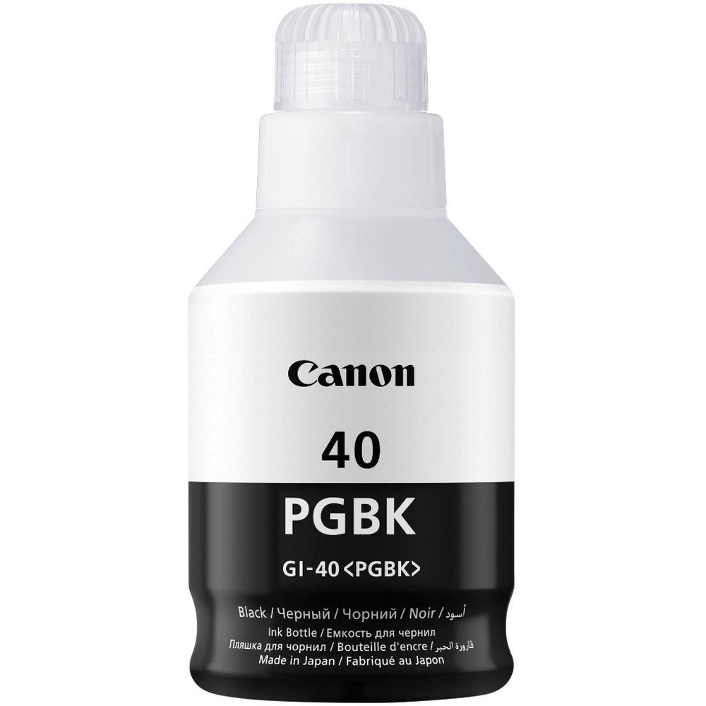 Фото - Чернила Canon GI-40 BK Black для Pixma G5040/G6040 картридж струйный canon gi 40 y 3402c001 желтый 70мл для canon pixma g5040 g6040