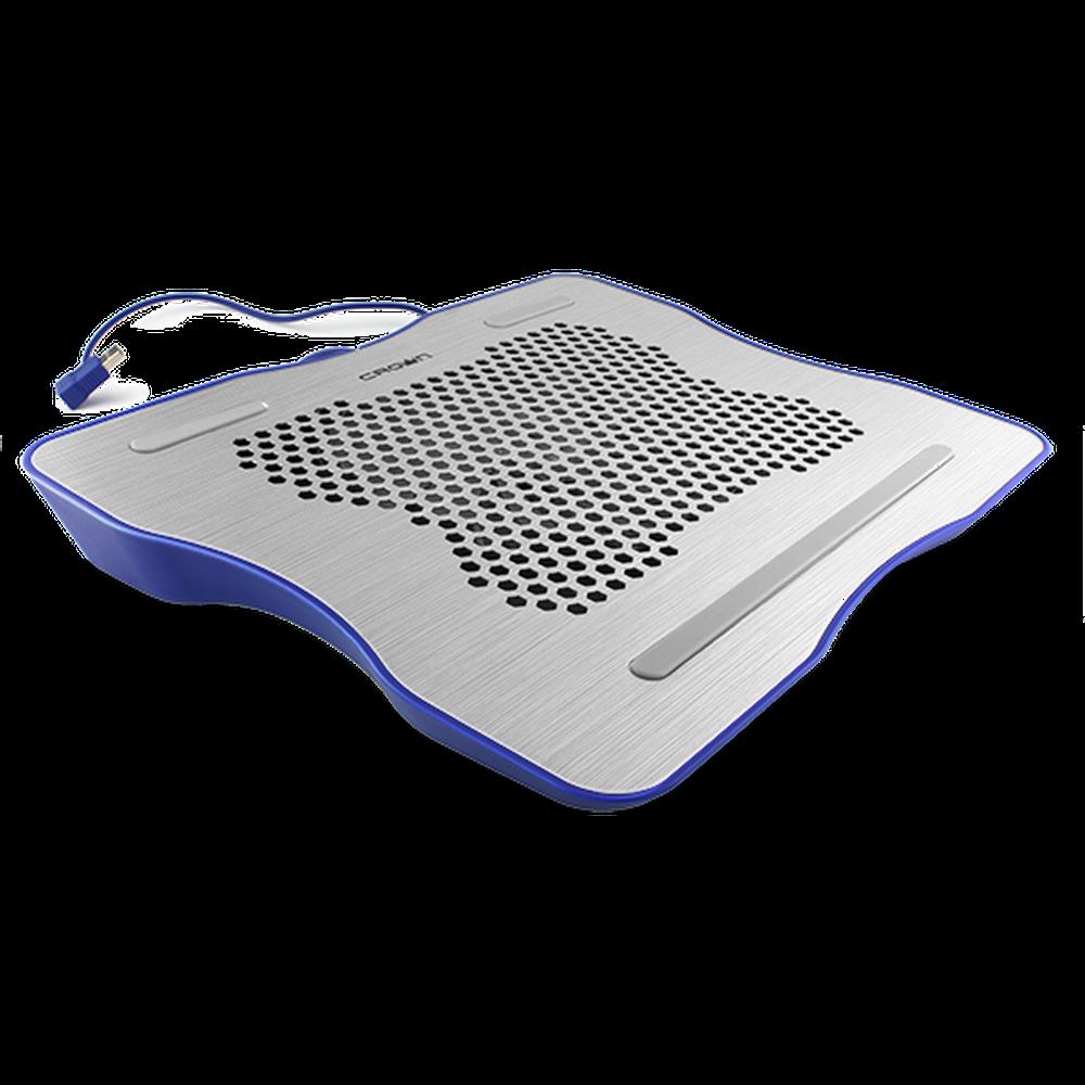 Подставка охлажд. Crown CMLC-1001 для ноутбука до 15,6, 1 вен. 160 мм, silver&blue