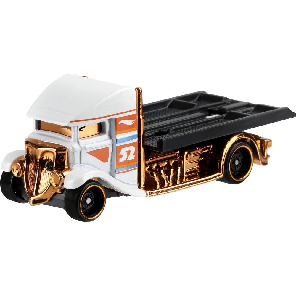 Mattel Hot Wheels премиальная машинка из серии Перламутр и хром GJW48 Fast-bed Hauler