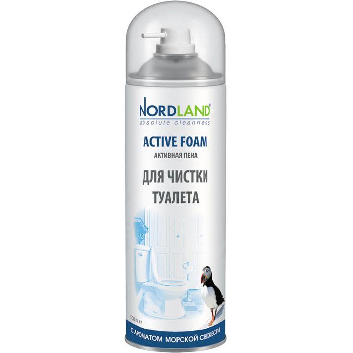 Nordland пена для чистки туалета Морская свежесть, 500 мл. средство чистящее nordland морская свежесть д ванн пена 0 6л
