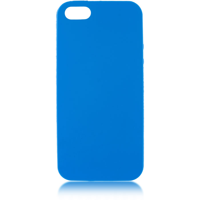 Чехол для iPhone 5\5S\SE Brosco Colourful, накладка, синий чехол для iphone 5 iphone 5s iphone se brosco soft rubber накладка черный