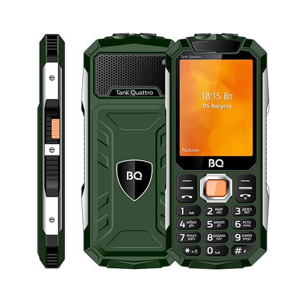 Мобильный телефон BQ Mobile BQ-2819 Tank Quattro Green мобильный телефон bq mobile bq 2817 tank quattro power black