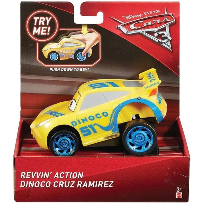 Машинка Mattel Cars с автоподзаводом dinoco cruz ramirez DVD31/FBG14 mattel машинка cars пол лошсил меняет цвет