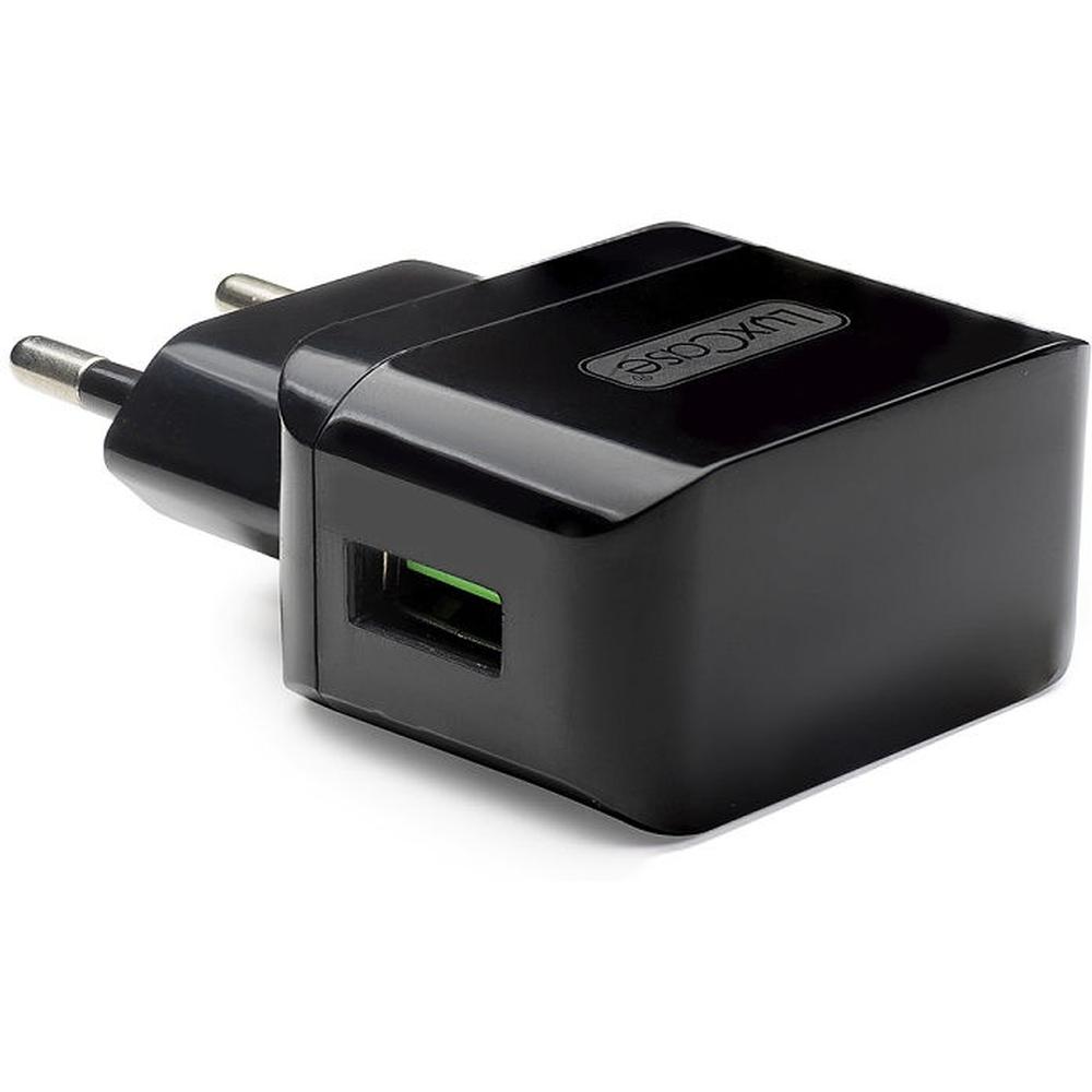 Фото - Сетевое зарядное устройство LuxCase QY-10G 1xUSB 1A черный аксессуар защитное стекло для meizu m5c luxcase 0 33mm 82256