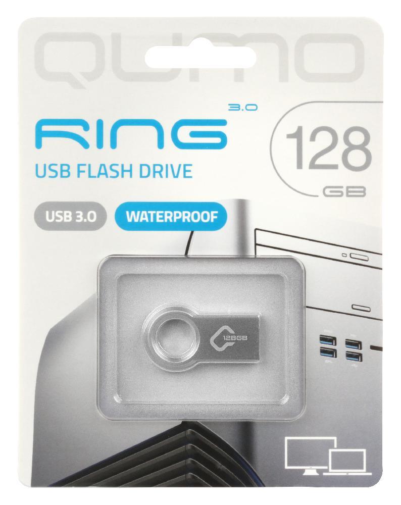 Фото - USB Flash накопитель 128GB Qumo Ring (QM128GUD3-Ring) USB 3.0 детский бассейн stone skunk 3 ring pool 122х25см 190л jilong 17226