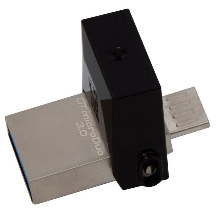 Фото - USB Flash накопитель 64GB Kingston DataTraveler micro DUO 3C (DTDUO3/64GB) USB 3.0 Черный usb flash drive usb flash 64gb kingston datatraveler elite g2 black dteg2 64gb