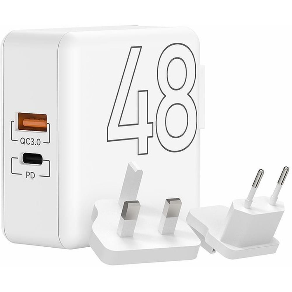 Фото - Сетевое зарядное устройство Lyambda LT48 48Вт USB Type-C(PD) + QC3.0 белый сетевое зарядное устройство aukey wall charger pd 30w usb c pa y21 черное