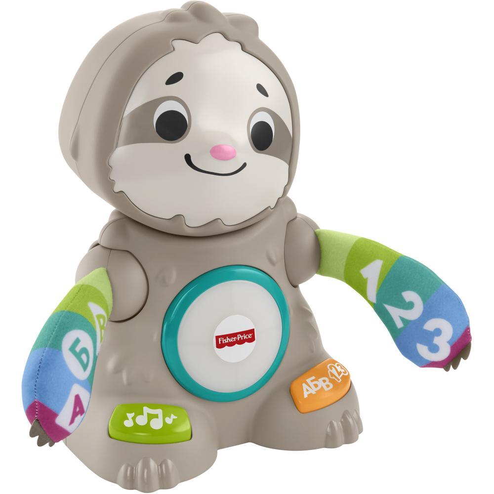 Фото - Интерактивная игрушка Mattel Fisher-Price Танцующий Ленивец GHY96 развивающий коврик fisher price ленивец