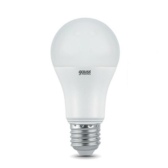 Фото - Светодиодная лампа Gauss Elementary LED A60 E27 20W 6500K 23239 светодиодная лампа gauss elementary led globe e27 6w 6500k 53236