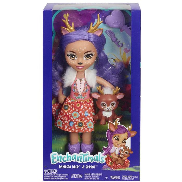 enchantimals кукла felicity fox Кукла Enchantimals Большая кукла FRH51 Данесса Оления