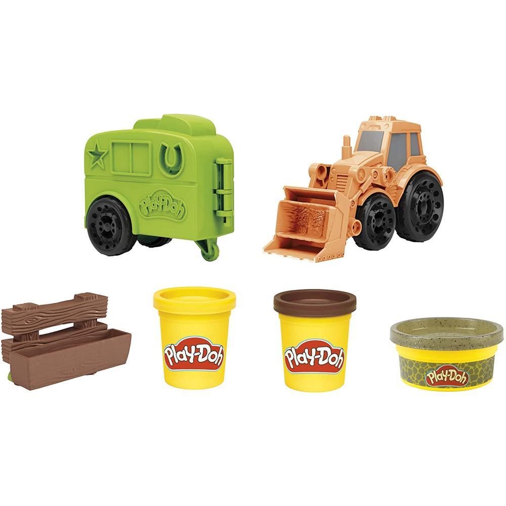 Фото - Игровой набор с пластилином Hasbro Play-Doh F1012 Фермерский трактор игровой набор специальной массы hasbro play doh wheels e4508