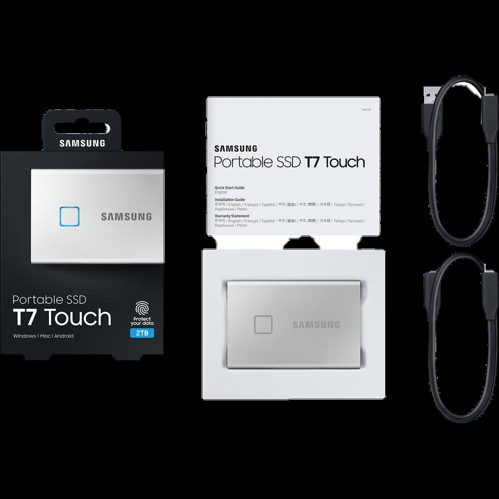 Фото - Внешний SSD-накопитель 1.8 2000Gb Samsung T7 Touch MU-PC2T0S/WW (SSD) USB 3.2 Type C Серебристый внешний ssd samsung t7 touch 1 tb серебристый