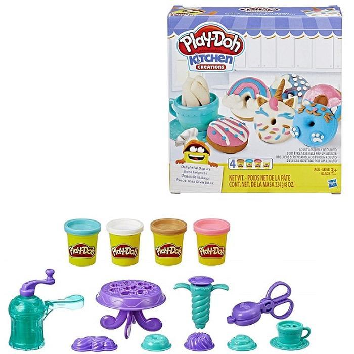 Фото - Игровой набор с пластилином Hasbro Play-Doh Выпечка и пончики E3344 игровой набор специальной массы hasbro play doh wheels e4508