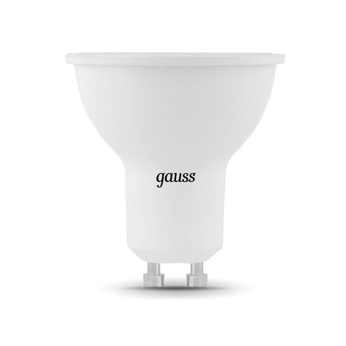 Gauss Black LED MR16 GU10 7W 3000K 101506107 gauss led elementary mr16 gu5 3 7w 3000k 1 10 100