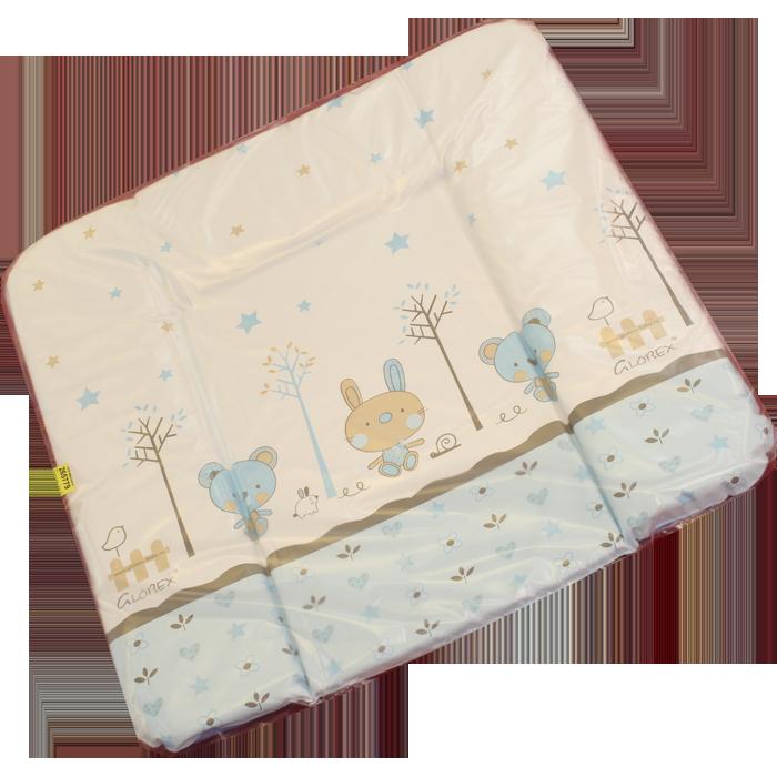 Накладка на комод Глобэкс с рисунком 820х720 мм 4207/1 (белый/голубой, зайки/мишки) накладка на комод глобэкс люкс с рисунком 820х720 мм 4206 1 белый голубой зайки мишки