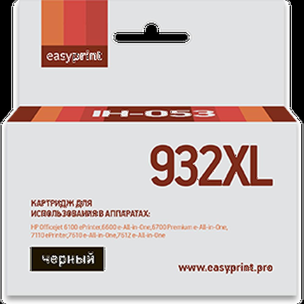 Фото - Картридж EasyPrint IH-053 №932XL (CN053AE) для HP Officejet 6100/6600/6700/7110/7610, черный картридж t2 ic h056 933xl cn056ae для hp officejet 6100 6600 6700 7110 7610 желтый