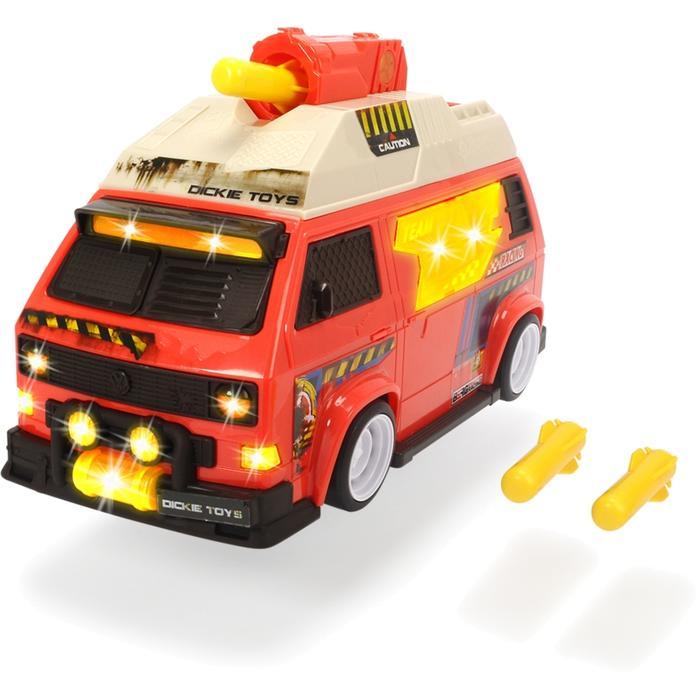 трансформер трейлер dickie optimusprime свет звук Dickie Машинка с залповой установкой VW T3 Camper 28 см (свет, звук) 3756004
