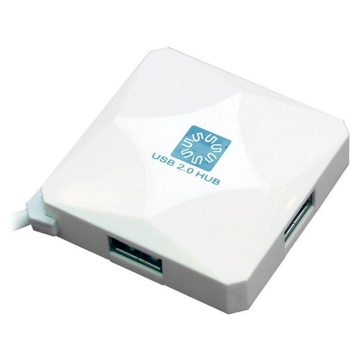 4-port USB2.0 Hub 5bites HB24-202WH Белый