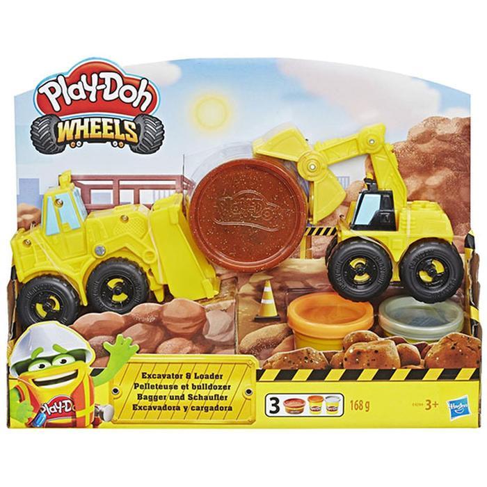 Фото - Игровой набор с пластилином Hasbro Play-Doh Экскаватор E4294 игровой набор специальной массы hasbro play doh wheels e4508