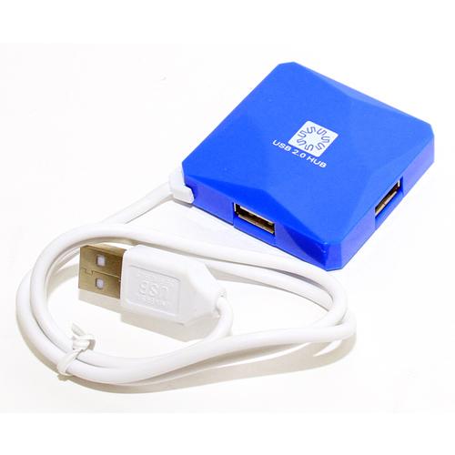 Фото - 4-port USB2.0 Hub 5bites HB24-202BL Синий 4 port usb type c hub 5bites hb34c 311bk