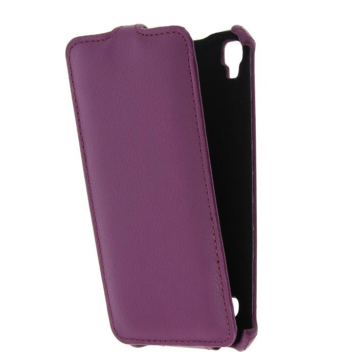 Чехол для LG X style K200 Gecko Flip case, фиолетовый