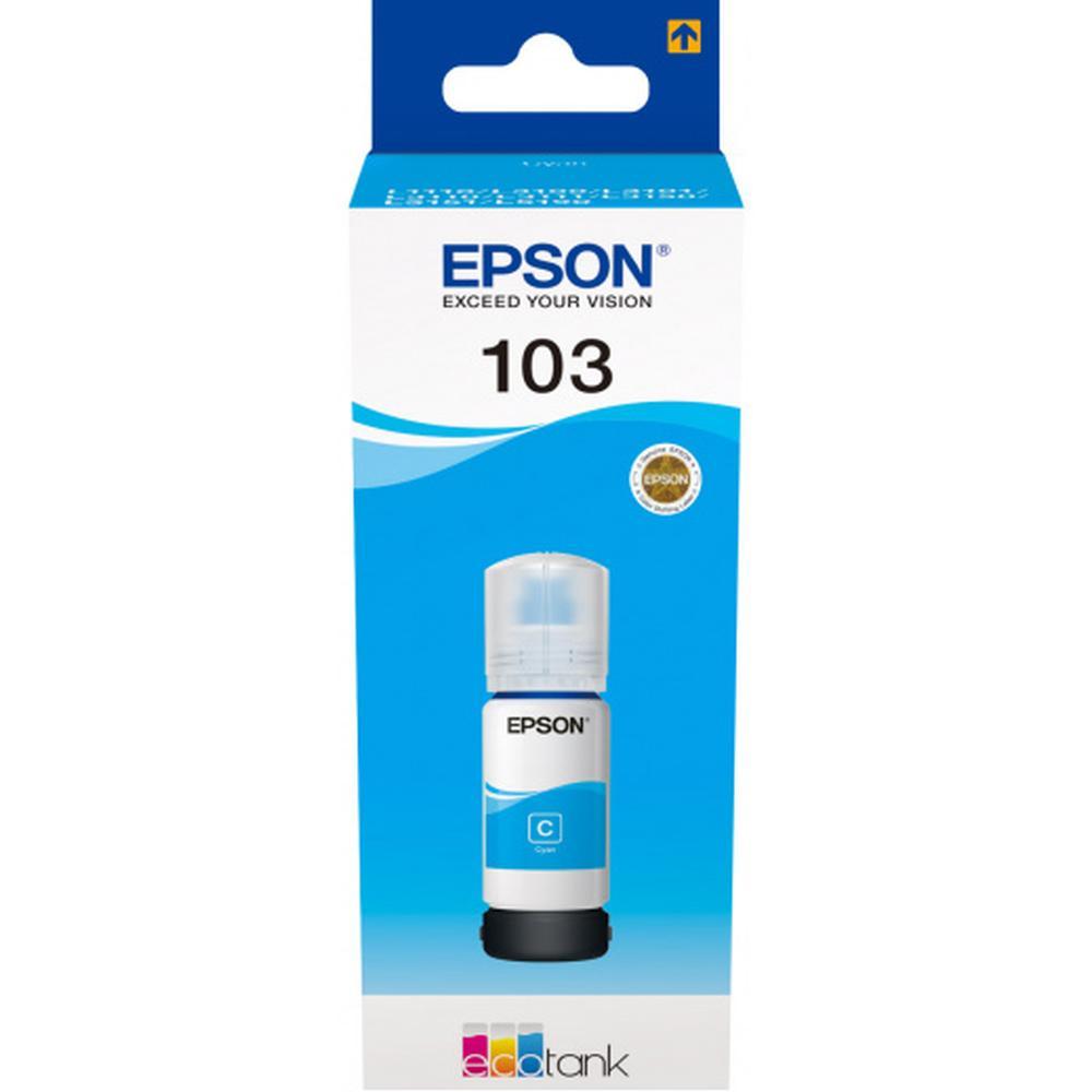 Чернила EPSON 103C Cyan для L3100/L3110/L3150 65мл C13T00S24A картридж epson 103c голубой [c13t00s24a]